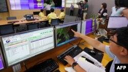یک مقام کره جنوبی محل ثبت لرزهها را نشان میدهد