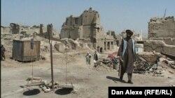 Imagine cu biblioteca distrusă din Kabul