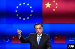 Kineski premijer Li Kećijang govorio je nakon samita EU i Kine u Briselu u aprilu 2019.