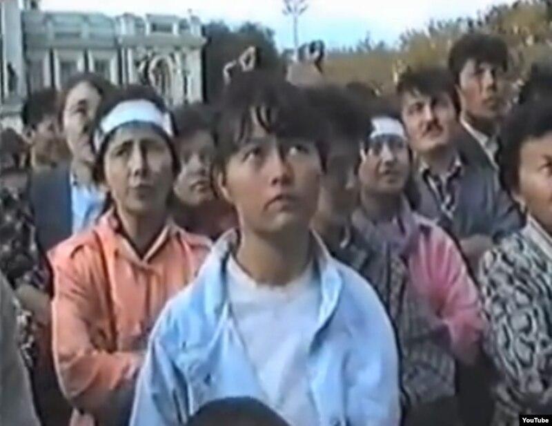 Фото с видеозаписи, опубликованной на сайте Ютуб. Уральск, 15