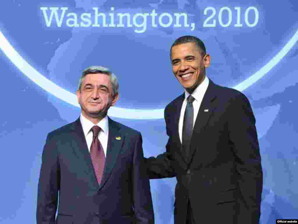U.S. -- Presidents of the Republic of Armenia and the United States at the Nuclear Security Summit, 12Apr2010 - U.S. -- Presidents of the Republic of Armenia and the United States at the Nuclear Security Summit, 12Apr2010