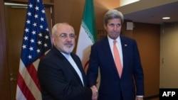 دیدار محمدجواد ظریف و جان کری وزیران خارجه ایران و آمریکا در نیویورک