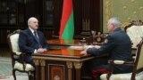 Belarus —Alexander Lukashenko and Minister of internal affairs Ihar Šunievič (Igor Shunevich), 10jun2019