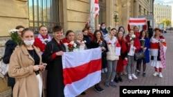 Жаночы марш у Санкт-Пецярбургу 10 кастрычніка 2020
