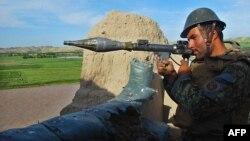 آرشیف، یک پوسته نیروهای امنیتی افغان در ولایت بادغیس.