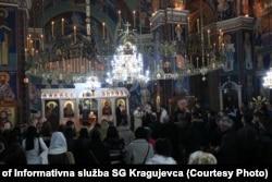 Božićna liturgija u Sabornoj crkvi u Kragujevcu