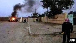 حرق عربة عسكرية قيل انها تابعة لقوات الأمن في الموصل