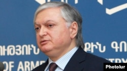 Armenia - Foreign Minister Edward Nalbandian at a news conference, 16Jan2012.