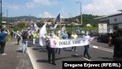 Protest radnika u Sarajevu, juli 2020.