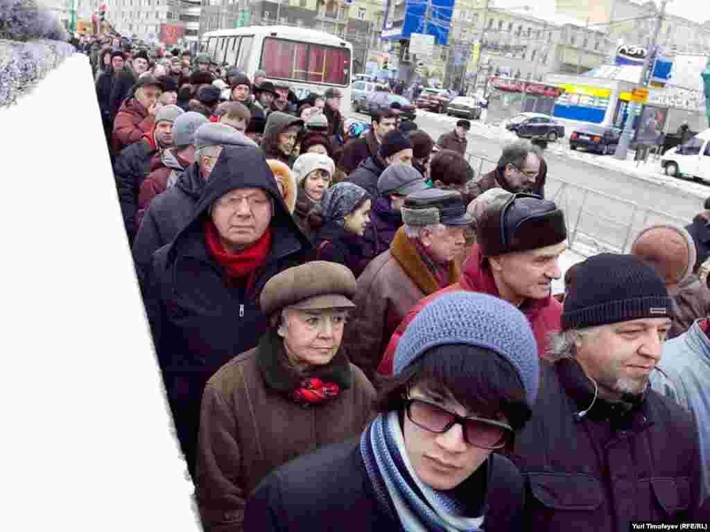 Tisuće ljudi učestvovalo je u protestima protiv etničkog nasilja, Moskva, 26.12.2010.