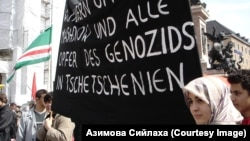 Chechen asylum seekers and some of their German supporters demonstrate against the deportation of Chechens in Munich in March 2010.