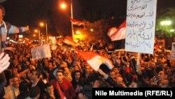 Misir prezidenti Muhammad Morsi-yə etiraz nümayişi
