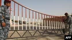 بوابة منفذ حدودي مع إيران في البصرة