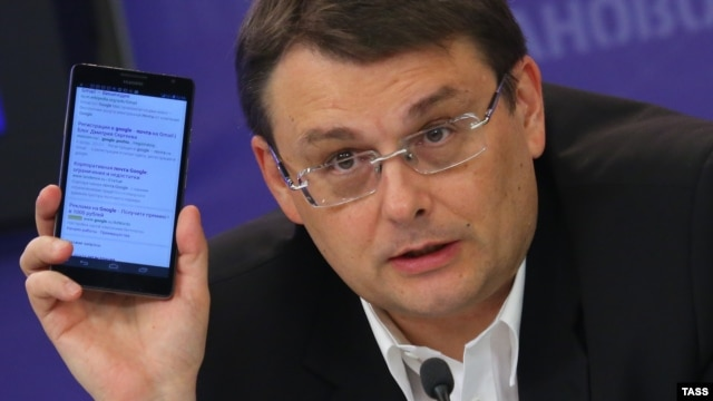 State Duma deputy Yevgeny Fyodorov at a 2014 press conference
