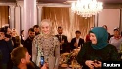 Кадыров с женой Медни и дочерью Айшат, Грозный, 1 марта 2017 года