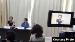 Пресс-конференция финансового эксперта Акботы Жаппар. Астана, 25 августа 2015 года.