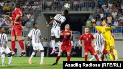 Arxiv fotosu: Neftçi Avropa Liqasında Gürcüstan komandası ilə oynayır.