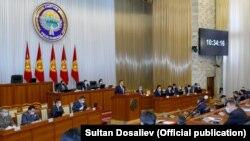 В парламенте Кыргызстана.