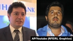 Turkish-Iranian businessman Reza Zarrab (right) and Turkish banker Mehmet Hakan Atilla (file photo)