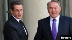 Former French President Nicolas Sarkozy (left) with his Kazakh counterpart Nursultan Nazarbaev in 2011.