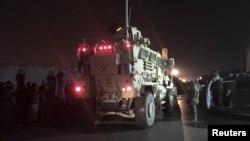 Авганистанската војска на местото на инцидентот.