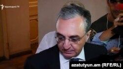 Министр иностранных дел Армении Зограб Мнацаканян, Ереван, 20 сентября 2018 г.