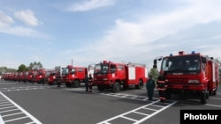 Armenia -- Japanese fire engines donated to Armenia at a ceremony in Yerevan, May 6, 2019.