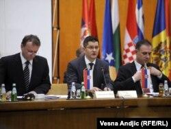 Vuk Jeremić na sastanku SEECP-a u Beogradu, 31. januar 2012.