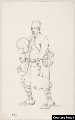 Дудар, мастак Артур Бартэлс, 1850