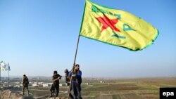 За даними «Загонів народної оборони» (на фото: прапор організації), бойовики планували напади, щоб завадити наступу курдів