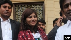 Krishna Kumari Kohli (C) is the first Hindu member of Senate or Upper House of the Pakistani parliament.