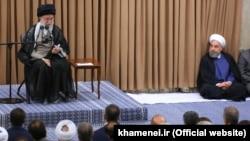 İran. Khamenei və Hassan Rouhani