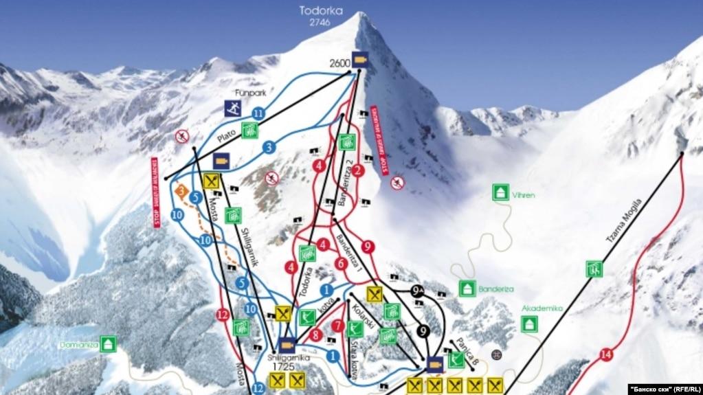 """Концесионерът на ски зоната над Банско """"Юлен"""" ползва 64% по-голяма площ от заложената в договора му, обяви на 12 юни 2018 г. прокуратурата"""