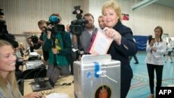 Liderja e partisë konservatore në Novergji, Erna Solberg
