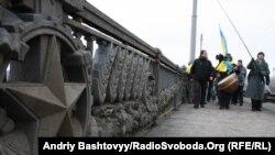 Фрагмент мосту Патона у Києві, фото архівне