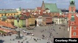Варшава. Вид на Королевский замок