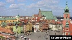 Варшава. Вид на Королевский замок.