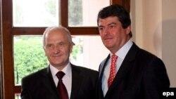 Presidentët e Shqipërisë dhe ai i Kosovës, Bamir Topi dhe Fatmir Sejdiu