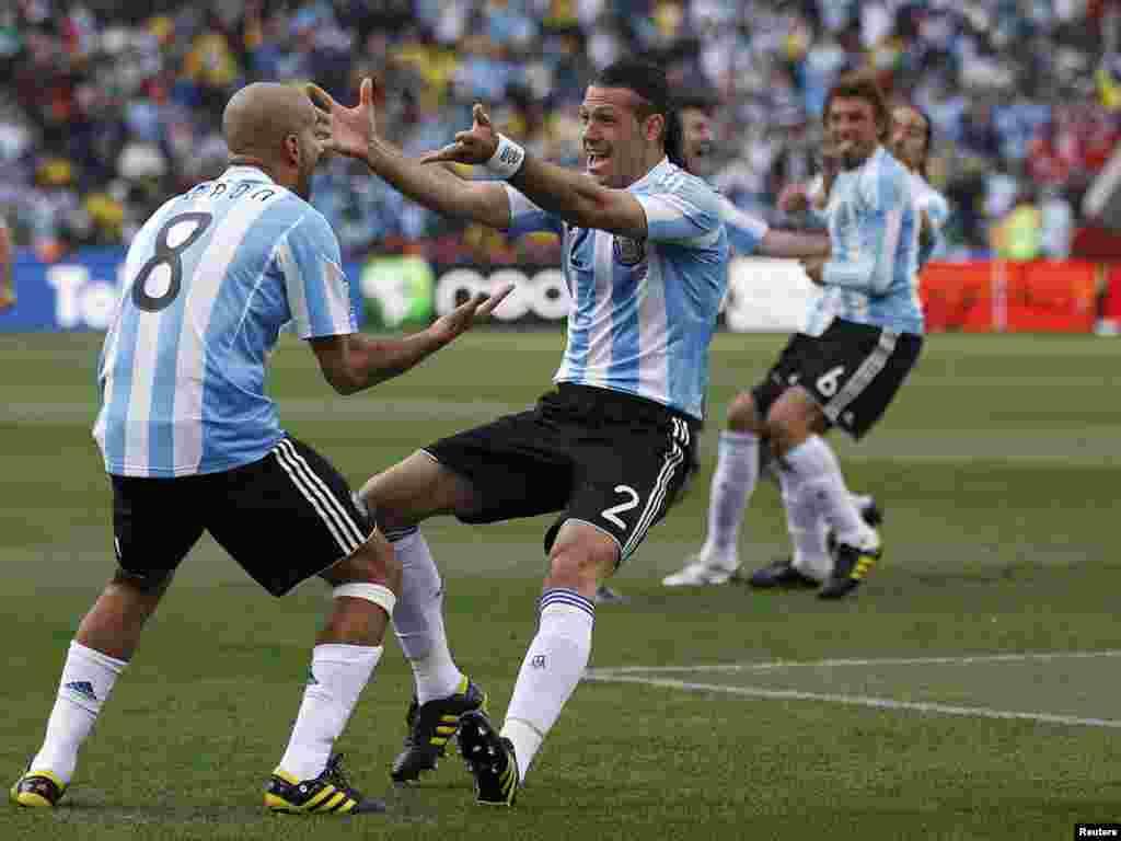 صحنه ای از دیدار آرژانتین با نیجریه