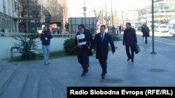 Поранешниот премиер Никола Груевски доаѓа во Кривичниот суд во Скопје на судењето за случајот Титаник