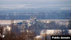 Диспетчерская вышка аэропорта в Донецке.