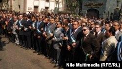 قضاة مصريون في إحتجاج بالقاهرة