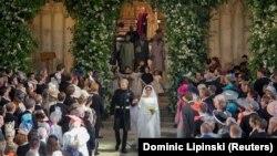 صحنهای از آیینهای ازدواج پرنس هری و مگان مارکل
