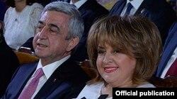 Серж Саргсян мен Рита Саргсян. Ереван, Армения. 28 мамыр, 2017 жыл.