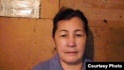 Гульжахан Изтаева, мать осужденного Серика Изтаева. Поселок Новый, Актобе, 10 февраля 2010 года.