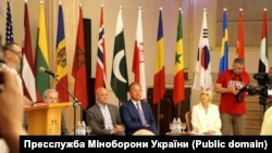 На торжественной церемонии открытия «Си Бриз-2021» в Одессе