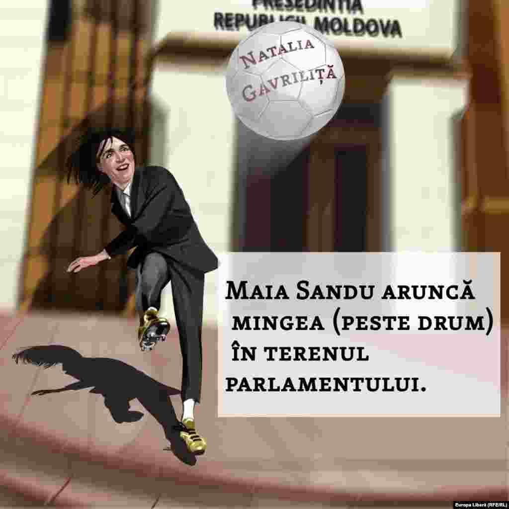 Mingea e la parlament Președinta Maia Sandu le-a trimis o minge cu efect rivalilor săi din parlament, desemnându-și aliata, Natalia Gavriliță, în calitate de prim-ministră, dar spunând că aceasta trebuie respinsă pentru declanșarea alegerilor parlamentare anticipate. Cum vor răspunde deputații?