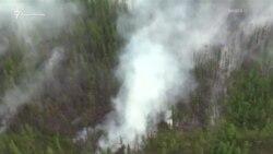 Сибирь в огне: лесные пожары в России сняли с вертолета (видео)