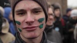 """Петербургтегі шеру: """"Мал емеспіз!"""""""