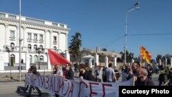 """Од протестниот марш на Иницијативата """"Култура или фискултура?"""""""